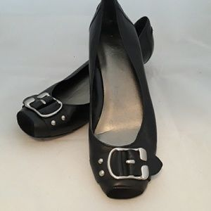 Black Buckle Flats by Jessica